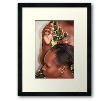 Traditional Hair Braiding Framed Print