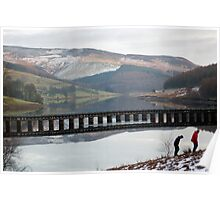 Nearly there son! Ladybower, Derbyshire Poster