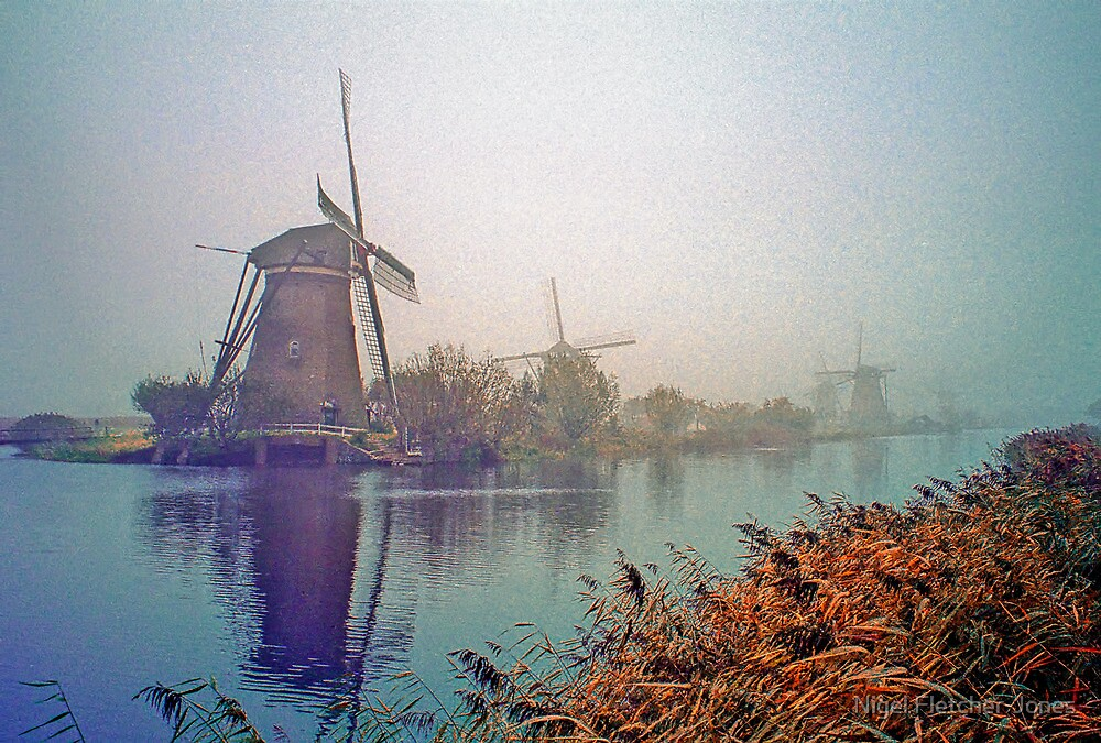 Winter Morning Kinderdijk by Nigel Fletcher-Jones