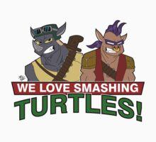 We love smashing Turles! Kids Tee