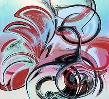 Abstract in Pink, Red, Blue, and Black by Jessielee72