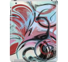 Abstract in Pink, Red, Blue, and Black iPad Case/Skin
