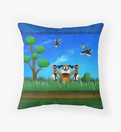 Duck Hunt! Throw Pillow