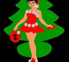 50s rocking Christmas card by patjila