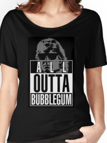 STRAIGHT (ALL) OUTTA BUBBLEGUM Women's Relaxed Fit T-Shirt