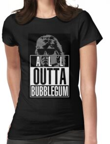 STRAIGHT (ALL) OUTTA BUBBLEGUM Womens Fitted T-Shirt