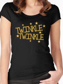 TWINKLE TWINKLE little stars Childrens nursery rhyme Women's Fitted Scoop T-Shirt
