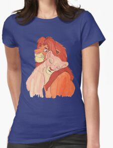 Lion Love Womens Fitted T-Shirt