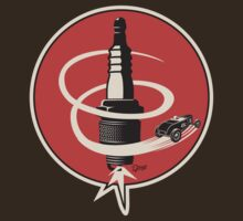 Post WWII Hot Rod Roadster Spark Plug Bomb Group T-Shirt