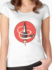 Post WWII Hot Rod Roadster Spark Plug Bomb Group Women's Fitted Scoop T-Shirt