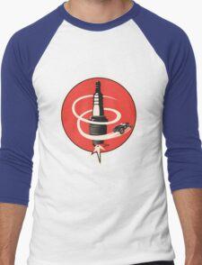Post WWII Hot Rod Roadster Spark Plug Bomb Group Men's Baseball ¾ T-Shirt