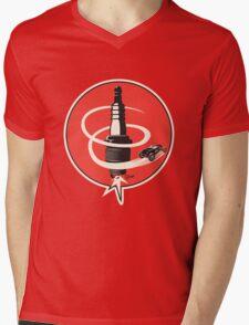 Post WWII Hot Rod Roadster Spark Plug Bomb Group Mens V-Neck T-Shirt
