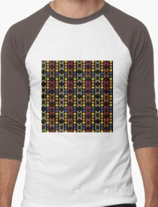 Digital Navajo  Men's Baseball ¾ T-Shirt