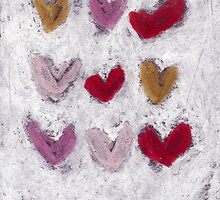 Happy Hearts No.8 by Tine  Wiggens