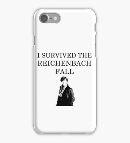 I survived the Reichenbach fall iPhone Case/Skin