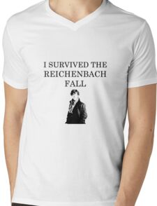 I survived the Reichenbach fall Mens V-Neck T-Shirt