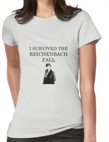 I survived the Reichenbach fall Womens Fitted T-Shirt