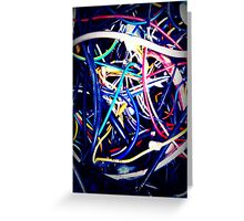 Wires, Wires and more Wires Greeting Card