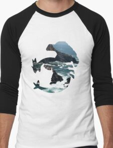 Lugia used surf Men's Baseball ¾ T-Shirt