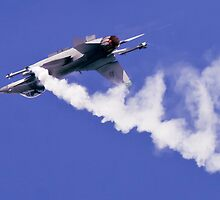 USAF F-16 Jet Fighter by Sylvia Fresson