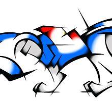 Blue Cubist Voltron Lion by PartyMoth59