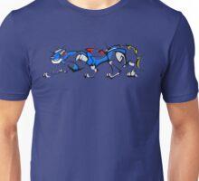 Blue Cubist Voltron Lion Unisex T-Shirt