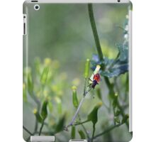 Red Bug on Dandelion iPad Case/Skin