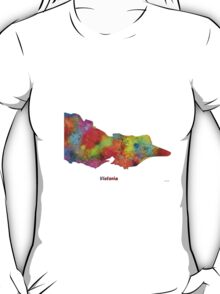 Victoria State Map T-Shirt