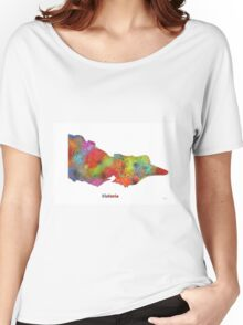 Victoria State Map Women's Relaxed Fit T-Shirt