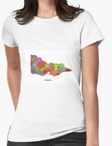 Victoria State Map Womens Fitted T-Shirt