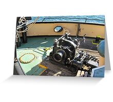 Anchor Winch etc., aboard Steam Tug 'Yelta' Port Adelaide. Greeting Card
