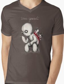 Back Stabbed Mens V-Neck T-Shirt