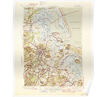 Massachusetts  USGS Historical Topo Map MA Ipswich 351818 1945 31680 Poster