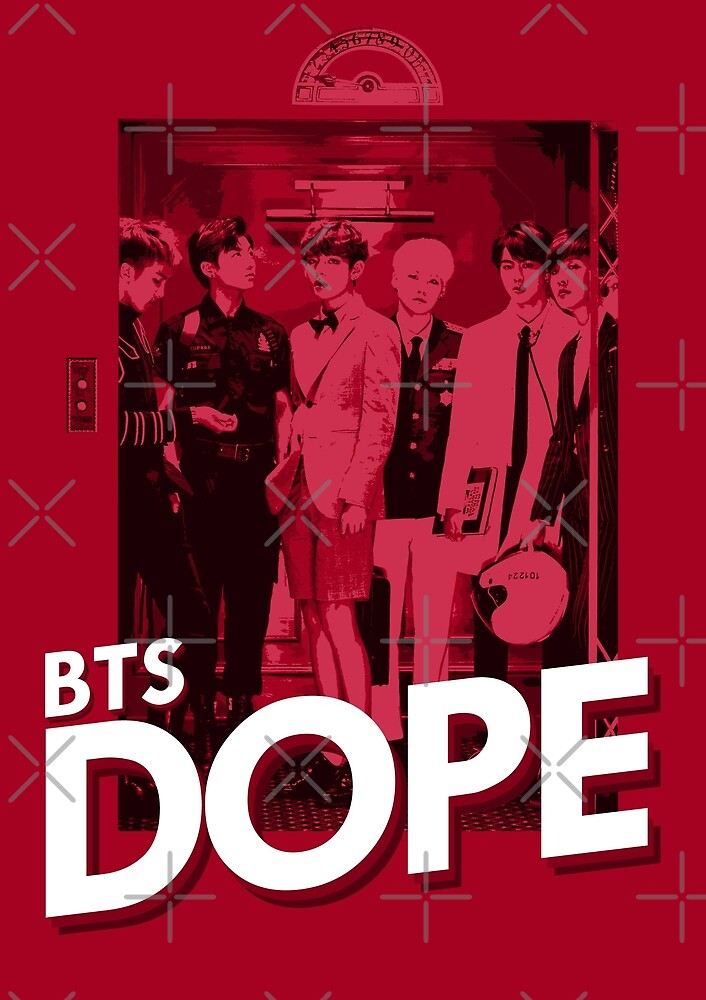 """BTS Dope Elevator"" by skeletonvenus 