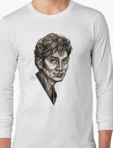 David Tennant - Doctor Who - Allons-y (Drawing) Long Sleeve T-Shirt