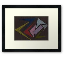 Trapped Rectangle Framed Print