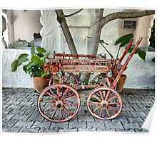 Painted Turkish Cart . Poster