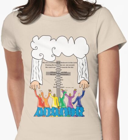 Community of Believers!~(C) Womens Fitted T-Shirt
