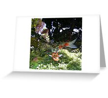 Abstract with Koi Greeting Card