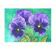 Pansies VIII Art Print