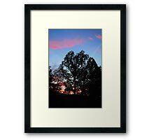 Red Clouds Blue Sky Framed Print