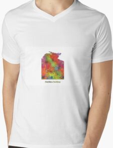 Northern Territory Map Mens V-Neck T-Shirt