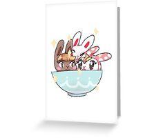 Animal Crossing Bonbon Ruby and Chrissy Greeting Card