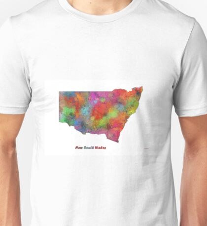 New South Wales State Map Unisex T-Shirt