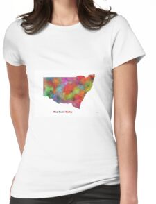 New South Wales State Map Womens Fitted T-Shirt