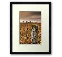 weathered wire.. Framed Print