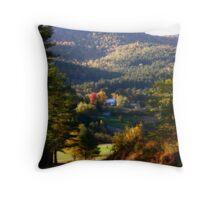 Farm in the Hills Throw Pillow