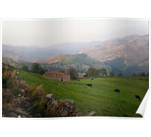 Pastures in Cantabria Poster
