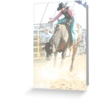 Deniliquin Rodeo 2010   Greeting Card