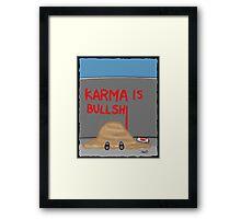 Karma Cartoon Framed Print